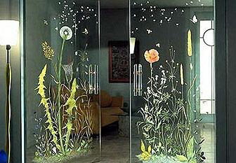 Печать на дверях